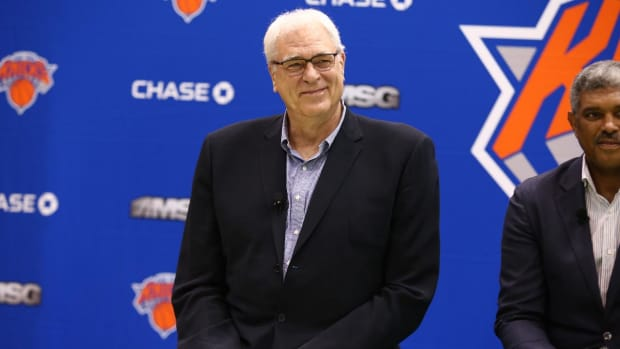 Phil Jackson confirms Kristaps Porzingis trade rumors--IMAGE
