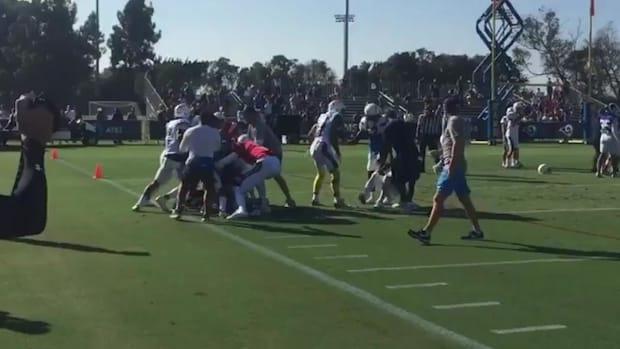 Rams, Chargers Brawl on Practice Field--IMAGE