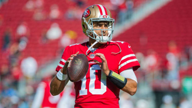 49ers Name Jimmy Garoppolo Starter Against Bears on Sunday--IMAGE