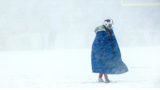 Bills, Colts Playing in Whiteout Conditions in Buffalo--IMAGE