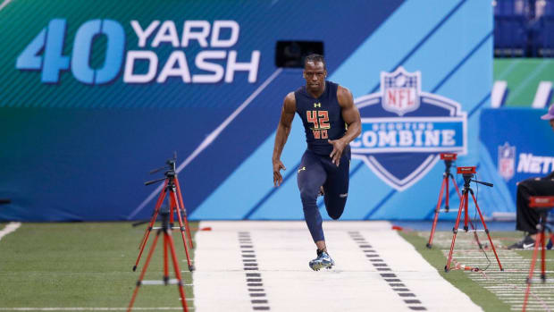 John Ross runs fastest 40-yard dash ever at NFL Combine--IMAGE