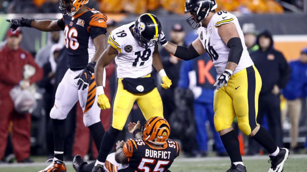 Steelers' JuJu Smith-Schuster, Bengals' George Iloka Suspended One Game for Hits to Head - IMAGE
