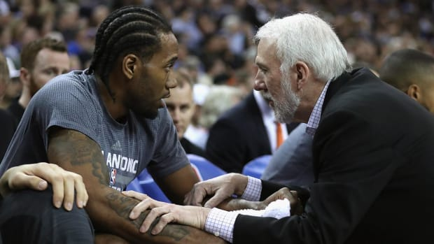 Gregg Popovich announces Kawhi Leonard out for Game 2, goes off on Zaza Pachulia - IMAGE
