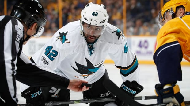 Sharks' Joel Ward Considering Kneeling During Anthem--IMAGE