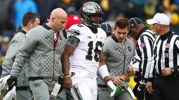 J.T. Barrett Had Surgery Sunday, Will Be Ready to Play vs. Wisconsin--IMAGE