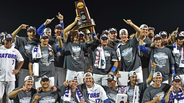 Interference call negates tying run, propelling Florida to first-ever CWS title - IMAGE