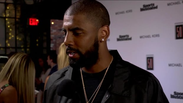 "Kyrie Irving says Cavs are in a ""peculiar place"" when asked about future - IMAGE"