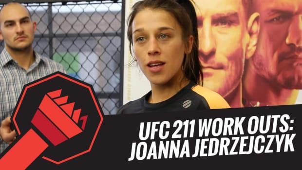 UFC 211 Open Workouts: Joanna Jedrzejczyk -- IMG