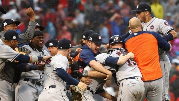 Houston Astros Defeat Boston, Headed to ALCS--IMAGE