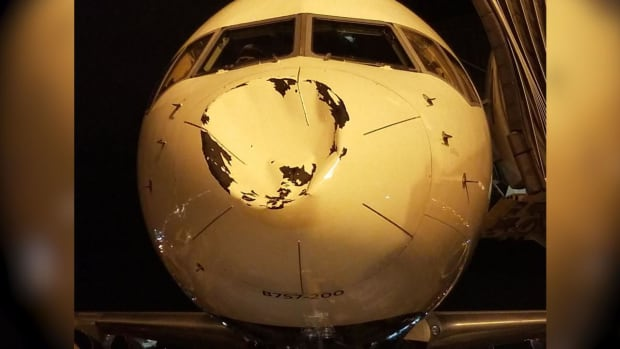 What Dented The Thunder Team Plane On Flight To Chicago? - IMAGE