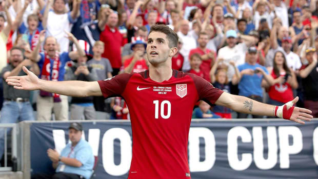 Christian Pulisic scores both goals for USA World Cup qualifying win  IMAGE