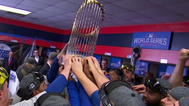Report: Cubs' World Series trophy damaged at Theo Epstein's charity concert - IMAGE
