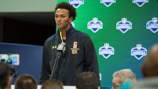 The Browns select their quarterback, DeShone Kizer--IMAGE