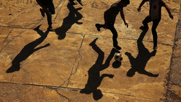 Mosul residents can play soccer again without Islamic State rules