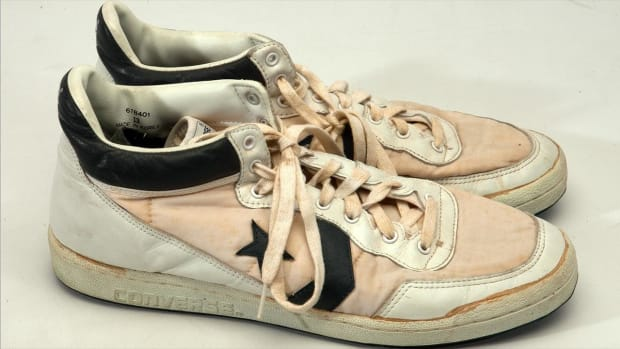 Michael Jordan's 1984 Olympic shoes auctioned off for record $190K--IMAGE