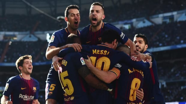 Barcelona Deals Real Madrid Debilitatiing Clasico Loss--IMAGE