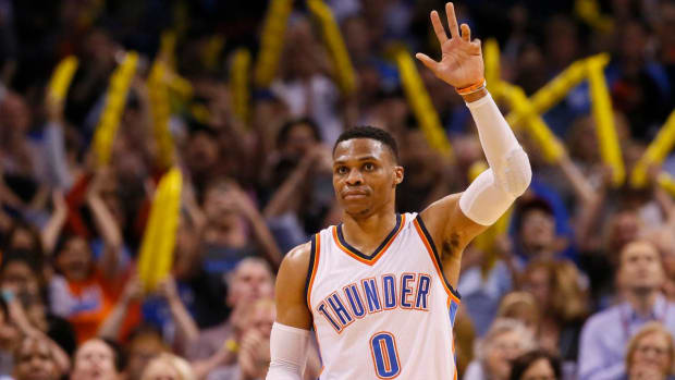 Russell Westbrook ties Oscar Robertson's single-season triple-doubles record - IMAGE