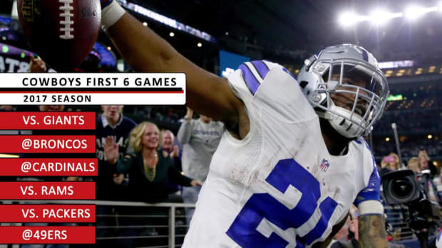 Cowboys' Ezekiel Elliott Suspended Six Games for Domestic Violence - IMAGE
