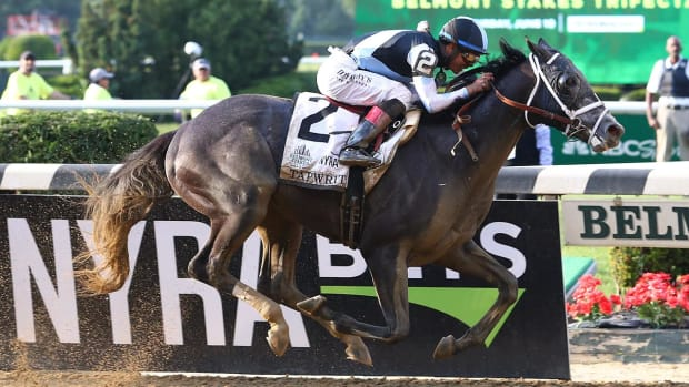 Tapwrit wins the 149th Belmont Stakes--IMAGE