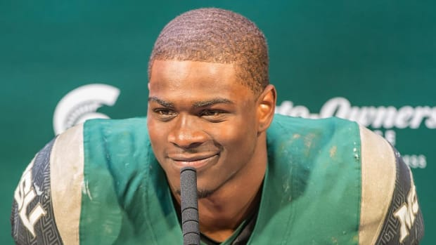 Report: Michigan State RB LJ Scott Arrested For Driving on Suspended License  - IMAGE