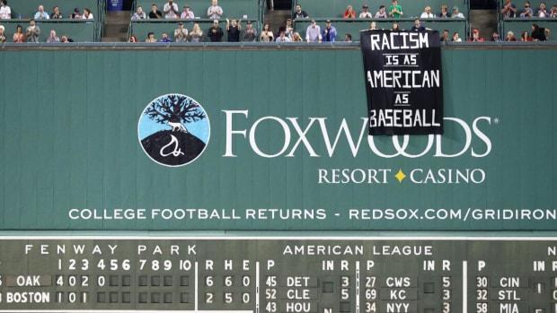 Fenway Fans Unfurl Banner Saying 'Racism Is As American As Baseball'--IMAGE