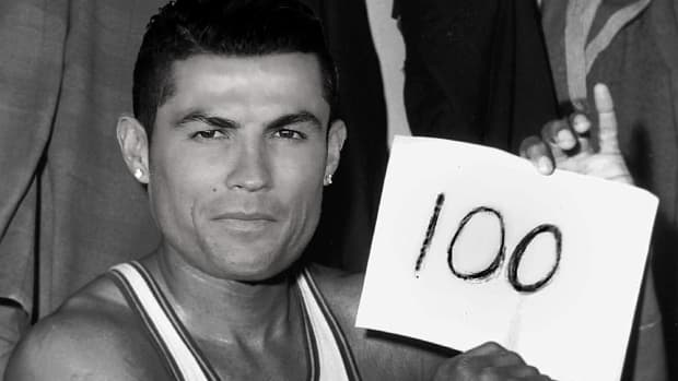 Real Madrid's Cristiano Ronaldo becomes the first to score 100 Champions League goals - IMAGE