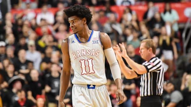 Kansas freshman Josh Jackson suspended for Big 12 tourney opener - IMAGE