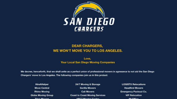 San Diego moving companies pledge they won't help the Chargers move to L.A. IMAGE