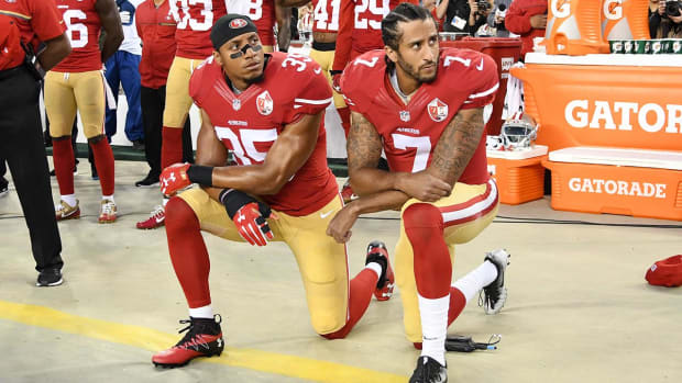 Report: Colin Kaepernick to stand during national anthem next season - IMAGE