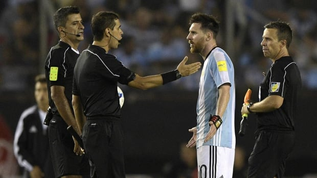 Lionel Messi banned four Argentina matches for verbally abusing referee - IMAGE