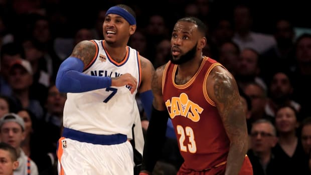 LeBron James denies he wants Love-Anthony trade - IMAGE