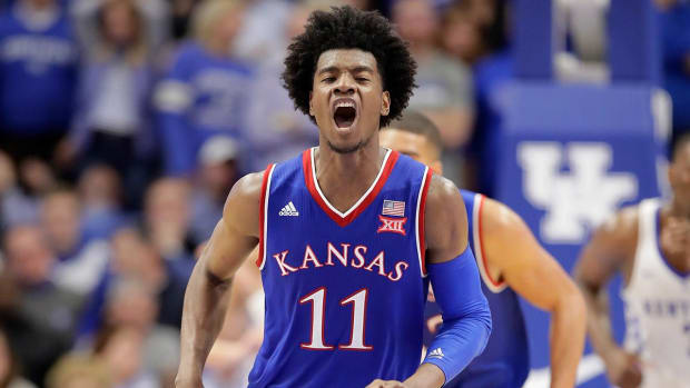 Kansas freshman Josh Jackson says he is entering NBA draft -IMAGE