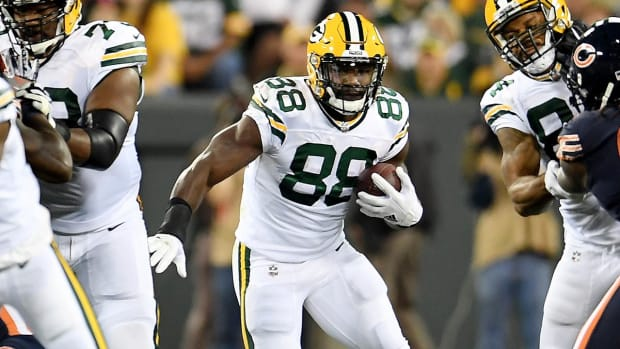Packers' Ty Montgomery Reportedly Broke Ribs vs. Bears - IMAGE