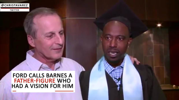 T.J. Ford graduates from Texas, fulfills promise to coach Rick Barnes--IMAGE