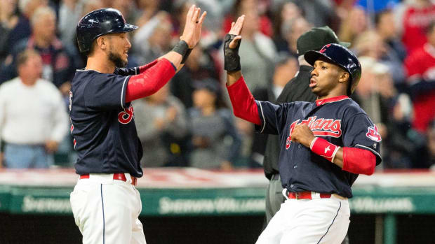 Indians Defeat Tigers, Extend Winning Streak to 20 Games--IMAGE
