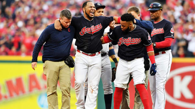 Indians DH Edwin Encarnacion Should Be Available For Game 5--IMAGE