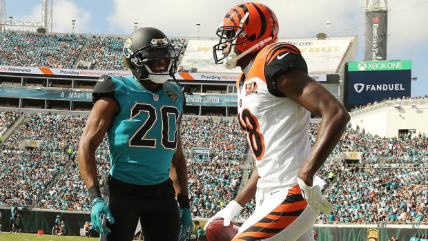 A.J. Green and Jalen Ramsey Get Ejected After Fighting - IMAGE