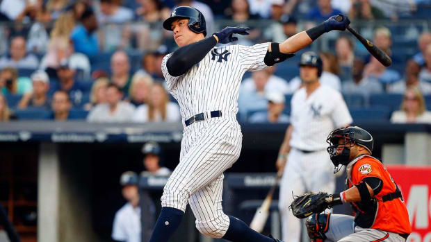 Home run derby king Aaron Judge on pace to join some elite company - IMAGE