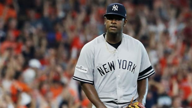 Luis Severino Leaves Yankees–Astros Game 2 With Apparent Injury - IMAGE