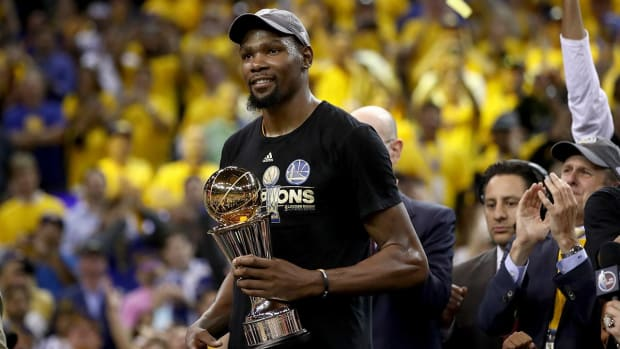 Kevin Durant named Finals MVP after winning first championship - IMAGE