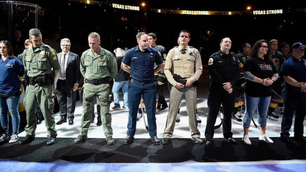 Vegas Strong: Golden Knights Honor Fallen at Home Opener--IMAGE
