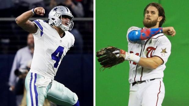 Bryce Harper talks Dak Prescott, Cowboys with Joe Buck at MLB All-Star Game - IMAGE