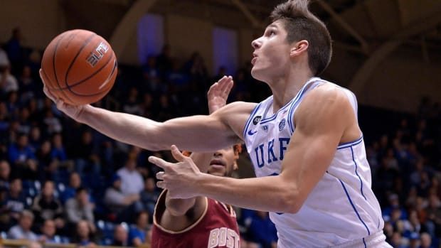 Grayson Allen may have tried to trip another player--IMAGE