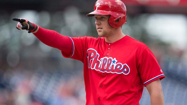 Rhys Hoskins Hits His 10th Home Run in His 17th MLB Game--IMAGE