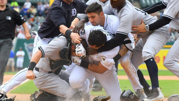 Baseball Hands Down Suspensions After Yankees-Tigers Brawl--IMAGE