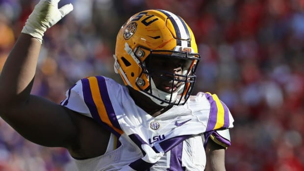LSU's Davon Godchaux has suspension lifted after domestic violence arrest - IMAGE