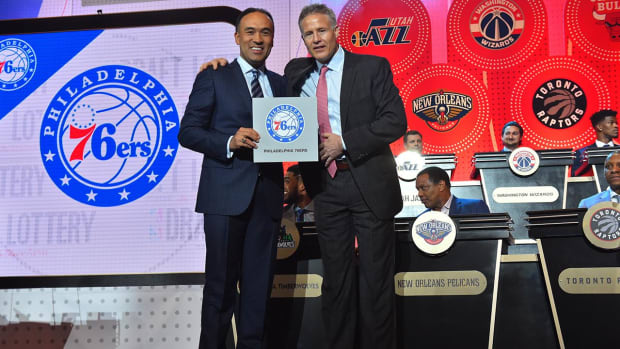 76ers win 2016 NBA draft lottery, Lakers pick second -- IMAGE