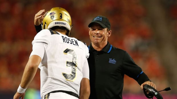 What's new in Westwood? UCLA's Jim Mora talks about offense and why QB Josh Rosen is a next-level talent