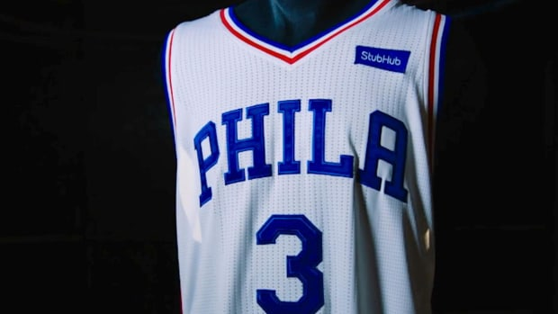 76ers sell first NBA jersey ad to StubHub - IMAGE