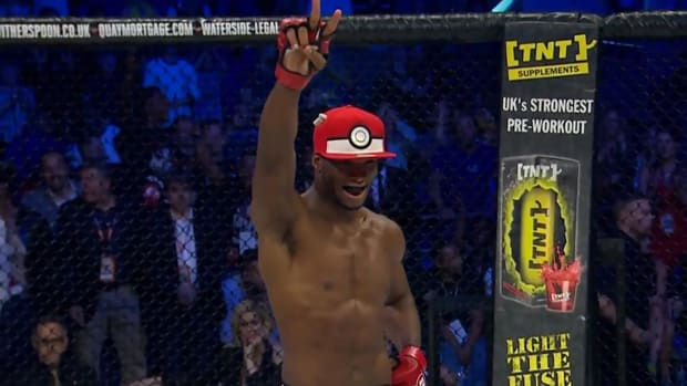 MMA fighter KOs opponent, captures him with Pokéball -- IMAGE